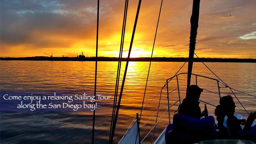 Sailing Sunset at SDST by Kyle Corbett